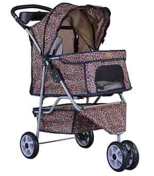 All Terrain Extra Wide 3 Wheels Pet Dog Cat Stroller