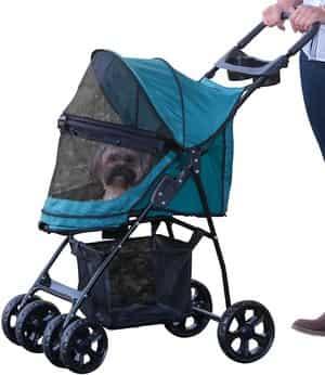 Pet Gear Happy Trails No Zip Pet Stroller
